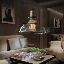 Vintage Industrial Loft Style Pendant Light Ceiling Lamp 25CM Glass Lamp Shade