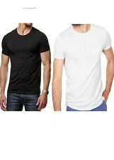 T-shirt homme 100% coton manches courte noir ou blanc
