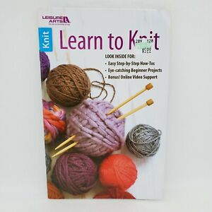 Learn to Knit: Leisure Arts 75492 How To Beginner Projects Online Videos