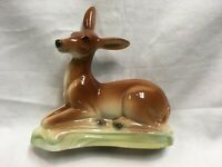 VINTAGE STEWART B MCCULLOCH CERAMIC DEER FAWN FIGURE CALIFORNIA POTTERY