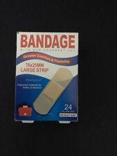 24 BANDAIDS PREMIUM FABRIC STRIPS LARGE BREATHABLE BULK FREE POST