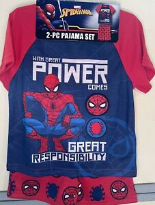 SpiderMan Boys Pajama Short-Sleeve/Shorts Pajama Set (8) NWT