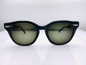 Vintage Shuron Black Oval Horn Rimmed USA Sunglasses FRAMES ONLY