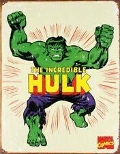 The Incredible Hulk Tin Sign 12 x 16in