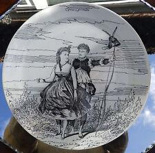 Antique French Transferware Pottery A Comical Plate by Creil et Montereau  4