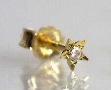 ECHT GOLD *** Männer Single-Ohrstecker Ohrring Zirkonia Stern diamantiert 4 mm