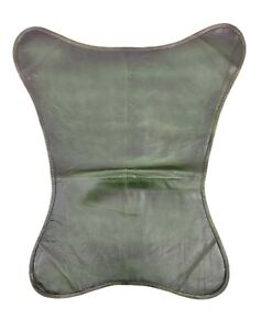 Genuine Green Leather Butterfly Chair Cover, Living Room Chair Cover S6-48