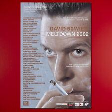 "David Bowie Metldown Festival 2002 Original 40"" x 60"" Festival Poster. London Uk"