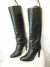 "Boots Vintage 1983 "" Sexy "" - Bootmaker Italian - Black - T .39, 5"