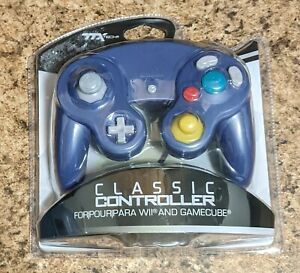 TTX Tech~ Classic Wired Controller~ for Nintendo Wii & GameCube~ GC Silver~ New