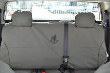 BLACK DUCK CANVAS SEAT COVERS - suits Toyota Dual Cab rear bench 5/2005+