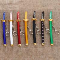 Anime joyería de naruto Zoro Katana Buckle Sable samurai Llavero espada Moda