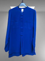 New Dorothy Perkins Ladies Blouse in Royal Blue Size 14 16 BNWT
