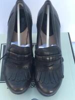 FRYE Women's Naiya Kiltie Moc Platform Heels (Smoke) NIB NEW
