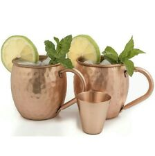 D&Me Premium Moscow Mule Mugs Highest Quality of 100% Pure Copper 1/2 pound new