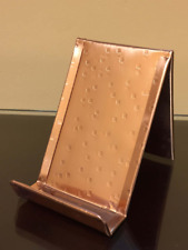 Yancey Vertical Square Hammered Copper Business Card Holder Made in USA Gift