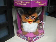 """6"""" electronic Tiger Striped Furby doll, Tiger Electronics 1999, Brand New Sealed"""