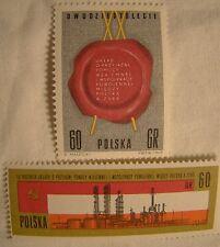 Poland Stamp 1965 Set #3 Scott 1317 A435 1318 A436 Unused Friendship Treaty