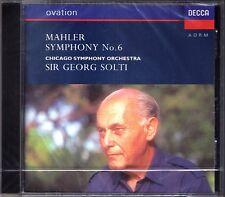 Sir Georg Solti: Mahler symphonie nº 6 Decca CD NEUF Chicago Symphony Orchestra