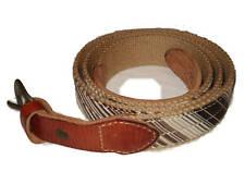 RRL Ralph Lauren Polo Ivy League Stripe Canvas Leather Belt 36