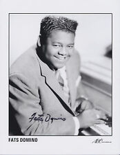 Fats Domino HAND Signed 8x10 Photo, Autograph, Blueberry Hill, Rock n Roll