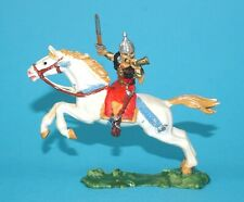 ELASTOLIN 4CM 40MM SERIES No. 8754 MOUNTED HUN HORSE RIDER HUNNE 1960s GERMANY