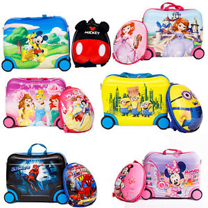 Children Kids Holiday Travel Cabin Hand Hard Shell Suitcase Luggage Trolley Bags