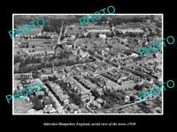OLD LARGE HISTORIC PHOTO OF ALDERSHOT HAMPSHIRE ENGLAND TOWN AERIAL VIEW 1930 2