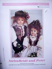 Seeley's Dollmaker'S Worksheet - Swiss Heidi & Peter Modern Dolls Painting Tech