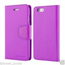 Genuine Goospery Purple Leather Wallet Flip Case Cover For Apple iPhone 5/5s &SE