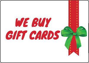 WE BUY GIFT CARDS! STOREFRONT WINDOW | Adhesive Vinyl Sign Decal