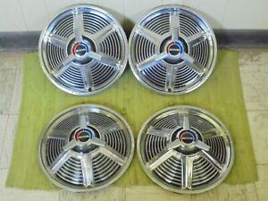 """1965 Ford Mustang SPINNER Hubcaps 14"""" Set of 4 Wheel Covers 65 Hub Caps"""