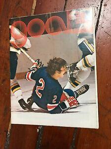 New York Rangers vs California Golden Seals Program February 22, 1974