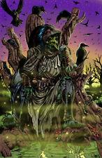 Carrion Crow goblin Swift Blades art horror sexy signed 11x17 print Rod Jacobsen
