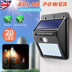 Home Wall lights Solar Powered Security Light for Door Garden Fence Patio Deck