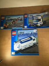 Lego CITY 7686 (Book 1) and 7288 (Books 2,3) Instruction Booklets only