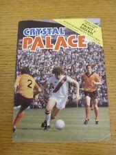 10/11/1979 Crystal Palace v Arsenal  (Creased)