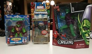 Lot of 3 Green Goblin action figures Signature Origins Friends Legends Showdown