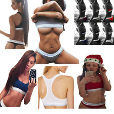 UK Women Ladies Cotton Underwear Gym Sports Bra Bralette Hip Brief Sets Briefs