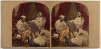 UK Vita Un Coppia Con Neonato Foto Stereo Vintage Albumina c1860