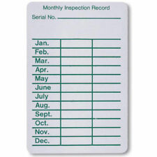 """ROLL OF 100-PEEL & STICK (MONTHLY INSPECTION RECORD) PAPER TAGS...2"""" X 3"""""""
