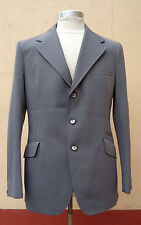Vintage 1960's Grey Pinstripe Crimplene Fitted Mod Blazer jacket - Size M