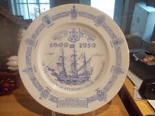 "SHELLEY Souvenir Plate - 10.75"" BERMUDA 350th Anniversary Plate"