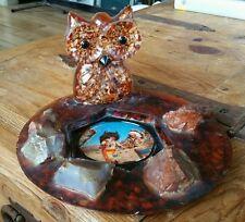 Arizona Owl Coin tray Native Indian Curiosity Tourist Vintage Western Americana