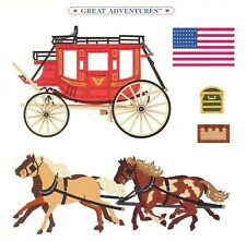 6 X 6 Horse Carriage Travel American Flag USA Grossman Sticker