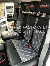VW TRANSPORTER T5 VAN SEAT COVER TAILORED GREY 150GYBK-RD  IN STOCK!!!