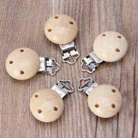 5pcs Baby Pacifier Clip Holder Soother Pacifier Solid Color Infant Clips Clasps
