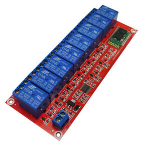8 Channel 12V Relay Board Module Bluetooth Phone Remote Control for