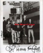 Def Leppard band autographed 8x10 phtot reprint