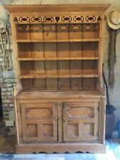 Rare Irish dresser with hand-carved Celtic fretwork